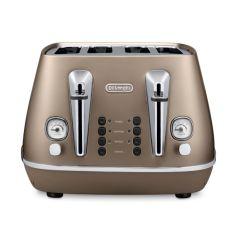 DeLonghi CTI4003.BZ Distinta 4 Slice Toaster - Future Bronze