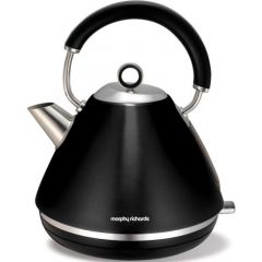 "Morphy Richards 102002 1.5L Cordless Stainless Steel Black ""Accents"" Kettle"