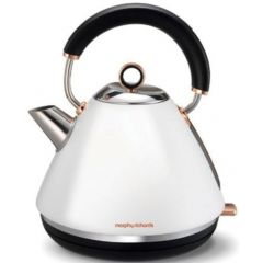 "Morphy Richards 102106 1.5L Cordless Stainless Steel White Rose Gold  ""Accents"" Kettle"
