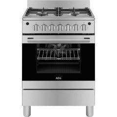 AEG 10306GM-MN 600mm Stainless Steel 5 Burner Full Gas Freestanding Oven