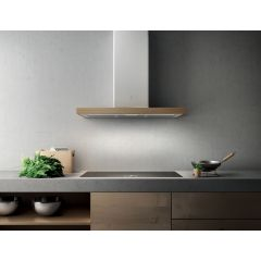Elica 10/BIO WH 900mm White Oak Wood Wall Mounted Extractor