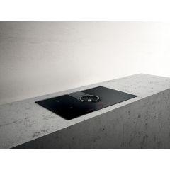 Elica 10/NIKOLATESLA BL 830mm Black 4 Plate Induction Extractor Hob