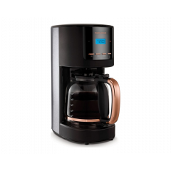 Morphy Richards 162030 12 Cup Stainless Steel Black Digital Coffee Maker