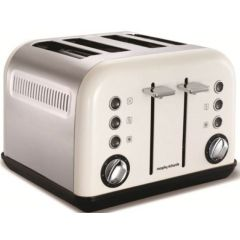 "Morphy Richards 242005 4 Slice Stainless Steel White ""Accents"" Toaster"