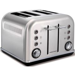 "Morphy Richards 242026 4 Slice Stainless Steel Brushed ""Accents"" Toaster"