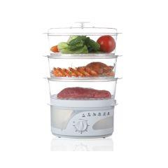 Mellerware 27610 White 3 Tier Food Steamer