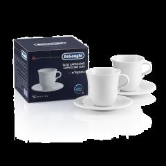 De'Longhi DLSC309 Cappuccino Cups Porcelain