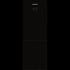 Grundig GKN 16820 GB 318L Black Glass Combi Fridge/Freezer