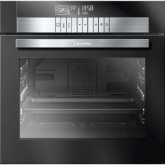 Grundig GEBD 47000 B  600mm Black Glass Multifunction Steam Assist Built-In Oven