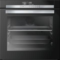 Grundig GEZST 47000 B 600mm Black Glass Divide & Cook Built-In Oven