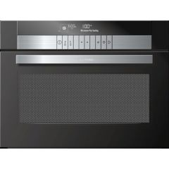 Grundig GEKW 47000 B  600mm Black Glass Multifunction Built-In Oven with Microwave