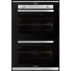 Grundig GEDM 26000 B 700mm Black Glass Multifunction Built-In Double Oven