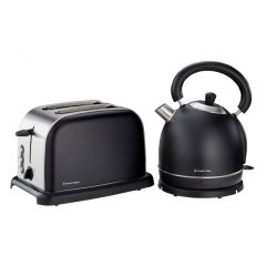 Russell Hobbs 852116 2-Piece Black Breakfast Pack