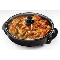 Pineware 853922 Black 1400W Round Electric Frying Pan