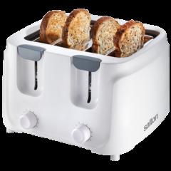 Salton 854636 ST401 Cool Touch 4 Slice White Toaster