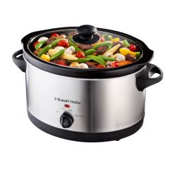 Russell Hobbs 857604 6.5L Stainless Steel Oval Slow Cooker