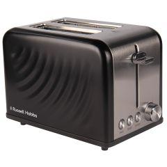 Russell Hobbs 858619 2 Slice Matte Black Toaster