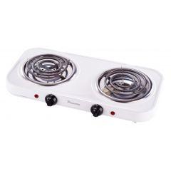 Pineware 858892 2 Plate White Spiral Hotplate