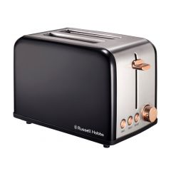 Russell Hobbs 860201 2 Slice Black Rose Gold Toaster