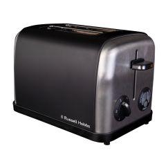 Russell Hobbs 860208 2 Slice Black Stainless Steel Toaster