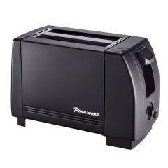 Pineware 860292 2 Slice Black Toaster