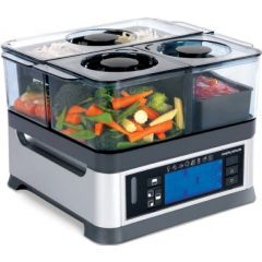 "Morphy Richards 48780 1600W  LCD Display Plastic ""IntelliSteam"" Food Steamer"