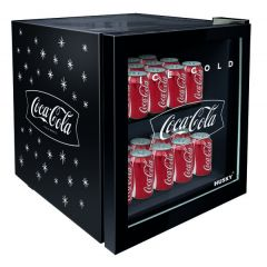 Stingray SC-46B 46L Coco-Cola Black Counter Glass Door Top Beverage Cooler