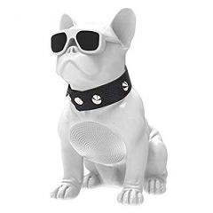 Aiwa ABR-000W White French Bulldog Bluetooth Speaker