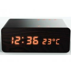 Aiwa ACR-2018 Wood Finish Bluetooth Clock Radio