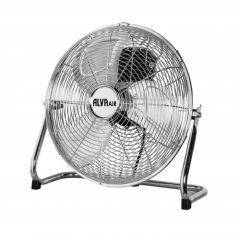 Alva ACS203 40cm Metal Floor Fan Silver