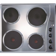Whirlpool AKM331IX 600mm Stainless Steel 4 Plate Solid Hob