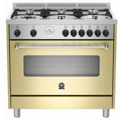Bertazzoni AMS95C61LBCR Americana 900mm Cream Gas & Electric Free Standing Oven