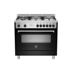 Bertazzoni AMS95C61LBNE Americana 900m Black Gas & Electric Free Standing Oven