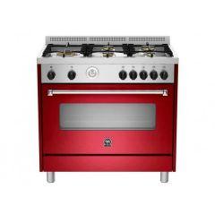 Bertazzoni AMS95C61LBVI Americana 900m Burgandy Gas & Electric Free Standing Oven
