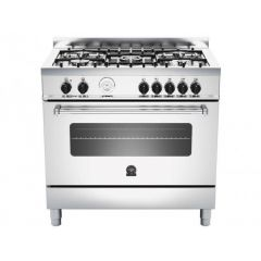 Bertazzoni AMS95C61LBX Americana 900mm Stainless Steel Gas & Electric Free Standing Oven
