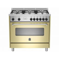 Bertazzoni AMS95C81BCR Americana 900cm Cream Gas Free Standing Oven