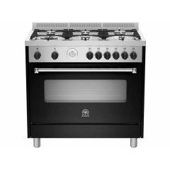 Bertazzoni AMS95C81BNE Americana 900mm Black Gas Free Standing Oven