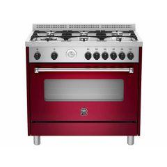 Bertazzoni AMS95C81BVI Americana 900mm Burgandy Gas Free Standing Oven