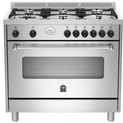 Bertazzoni AMS95C81BX Americana 900mm Stainless Steel Gas Free Standing Oven