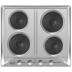Ferre B-604 600mm Inox 4 Plate Solid Plate Hob