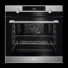 AEG BEK435220M 600mm Stainless Steel Eye Level Oven