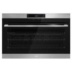 AEG BEK722910M 900mm Stainless Steel Eye Level Oven
