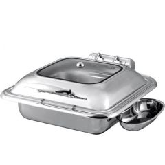Snappy Chef CCSC007 7L Classic Square Chafing Dish