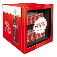 Stingray SC-46R 46L Coco-Cola Red Counter Glass Door Top Beverage Cooler