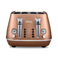 DeLonghi CTI4003.CP 4 Slice Distinta Toaster - Style Copper