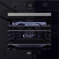 Defy DBO489 600mm Black Slimline ThermoFan Eye-Level Oven