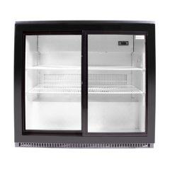 SnoMaster DBQ-220LS-DIS 200L Black Under Counter Beverage Cooler Sliding Door