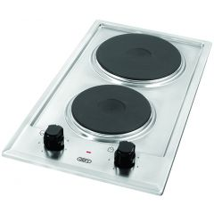 Defy DHD401 300mm Stainless Steel 2 Plate Domino Solid Hob