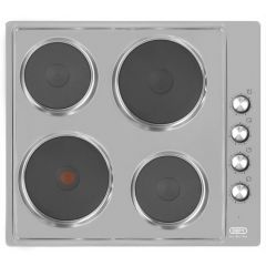 Defy DHD399 600mm Stainless Steel 4 Plate Solid Hob