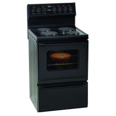 Defy DSS494 600mm Black 4 Plate Free Standing Oven